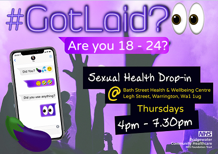 New drop-in sexual health clinic for 18 - 24 year olds in Warrington