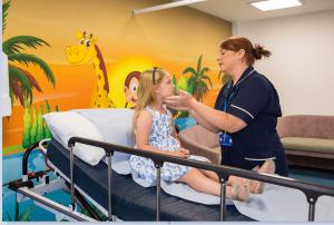 Widnes urgent care centre childrens room