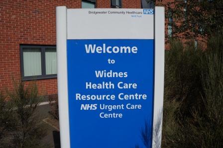 Widnes Urgent Care Centre signage