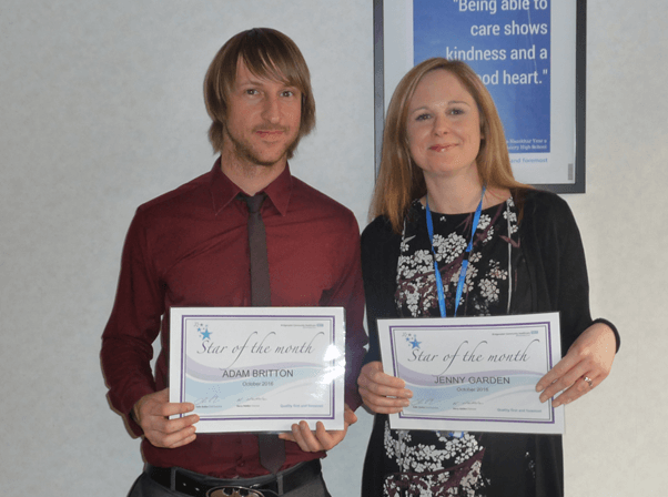 Bridgewater celebrates its Stars of the Month for October 2016 Comms