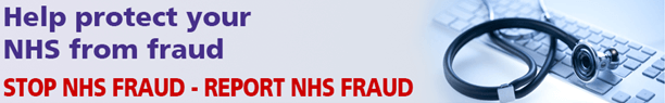 NHS Fraud Banner