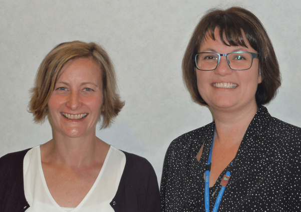 Equality and Human Rights Project Officer Ruth Besford and Head of Equality, Diversity & Human Rights Vikki Morris