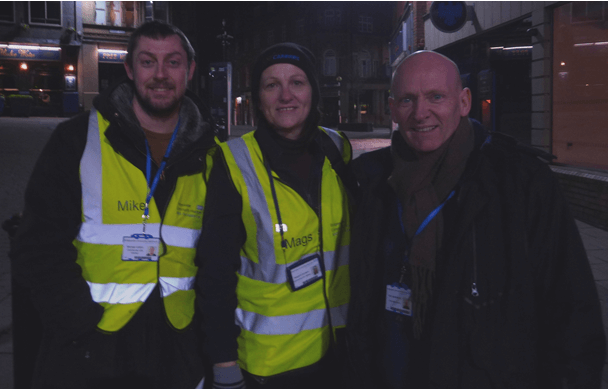 Outreach Team Mike Chatton, Mags Sanders and Ray Featherstone