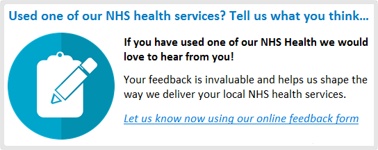 Used one of our NHS health services? Tell us what you think…