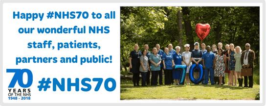 NHS70 website slider