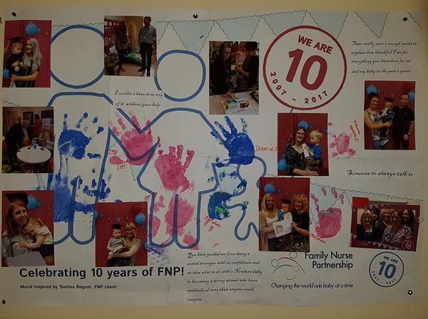 Warrington FNP 10 years mural