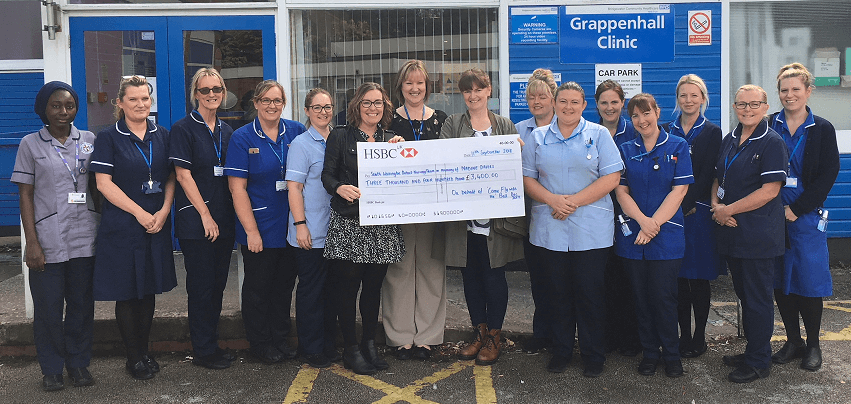 Grappenhall District Nurses receive generous donation in memory of a local mum