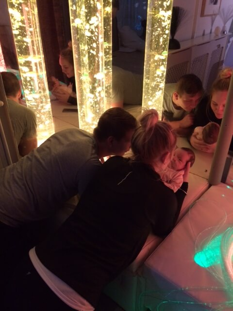 FNP clients enjoying the sensory room at the Orchards Children's Centre