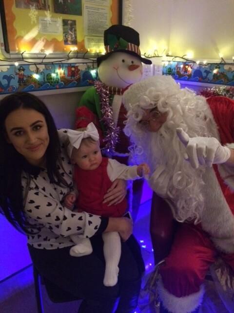 Warrington FNP 2016 mum and baby meet Santa